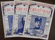 The Great War Magazine x 3, from 1915, Part 41-43-54, Pub by Amalgamated Press L
