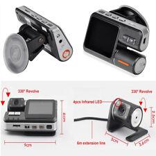 2'' FHD Dual Lens Car DVR Dash Cam Video Recorder Cycle video +Rear view Camera