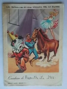quaderno durban's jolly durbans eroe del circo: stellina tra le fiamme 1954 67