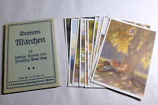 Vintage 1930's Germany Paul Hey 11 Assorted Bros Grimm Fairy Tale Postcards