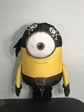 "HUGE 30""LIFE SIZE MINION STUART RARE PIRATE Plush Stuffed Toy Despicable Me"