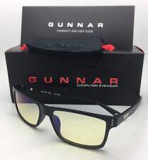New GUNNAR Computer Glasses VERTEX 54-16 Onyx Black Frame w/ Amber Yellow Lenses