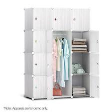 12 Cube Portable Storage Cabinet Wardrobe White Organiser