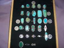 vintage sterling silver turquoise ring estate lot old pawn southwest and mexico