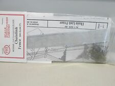 SS - LTD # 4128~ 200' CHAINLINK MESH FENCE WITH BRASS POSTS~KIT~LOT B~HO SCALE