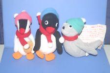 Pingu & Pinga & Robby Seal Promotional 3 Plush dolls SET Mister Donut JAPAN