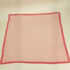 Vintage Givenchy Gentlemen Four Square Pocket Square Handkerchief Red White