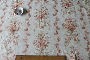 """Pretty French Antique c1880 Floral Baskets With Bows Cotton Fabric~L-21"""" X W-33"""""""