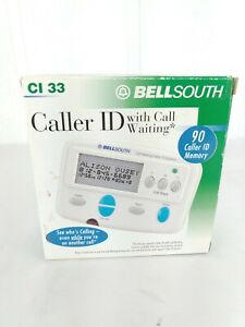 Bell South Caller ID with Call Waiting 90 Memory CI33 English & Spanish Used