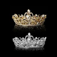Women Fashion Crystal Rhinestone Crown Tiaras Crown Headband Wedding Jewelry