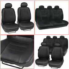 9× Car Faux Leather Seat Covers Protectors Universal Front Rear Cushions Set US