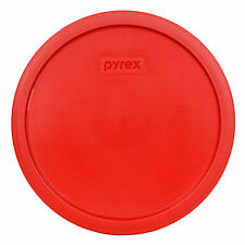 "Pyrex 7403-Pc 9"" 10 Cup Red Round Plastic Lid for Sculptured Mixing Bowl"