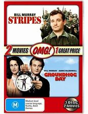 Groundhog Day / Stripes NEW DVD (Region 4 Australia) Bill Murray John Candy