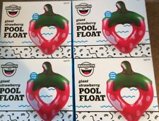 BigMouth Inc Giant Strawberry Pool Float Inflatable Raft Tube 5ft Lot Of 4 Party