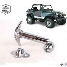 2 PCS For 1955-95 Jeep CJ CJ5 CJ7 CJ8 YJ Stainless Steel Chrome Catch Hood Latch