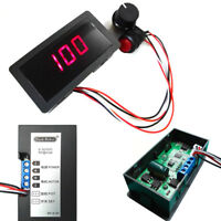 DC 6-30V 12V 24V 8A PWM Motor Speed Controller With Digital Display & Switch US