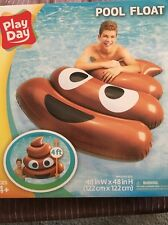 Large Pool Float POOP EMOJI Raft Inflatable Water Toy Tube Lounge 48