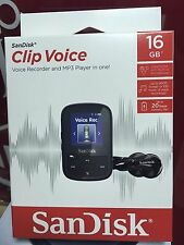 Sandisk CLIP VOICE 16GB SDMX28-016G-G46KV MP3 Player Recorder Brand NEW Original