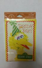 Vintage 1977 Drawing Board Sesame Street Big Bird Birthday Party Invitations 10c