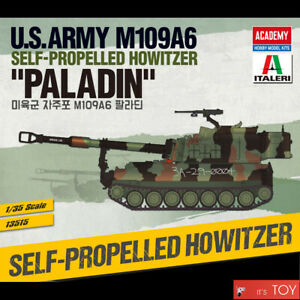 """Academy 1/35 U.S.Army M109A6 SELF-PROPELLED HOWITZER """"PALADIN"""" Model Kit #13515"""