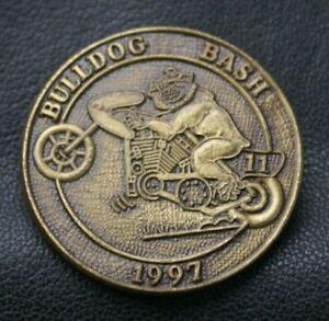 MOTORCYCLE Pin Badge BULLDOG BASH 11 1997 Hells Angels Outlaw Biker