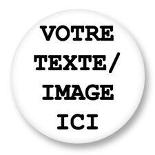 5 Badge Personnalisé Custom Button 38mm Idée Cadeau Mariage Bapteme Naissance
