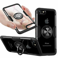 For iPhone 11 Pro Max XR XS 7 8 Plus SE2 Shockproof Ring Holder Clear Case Cover