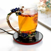 Electric Insulation Coaster Warm Lightweight Cup Heating Coffee Tea Warmer Mat