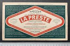 Buvard La Presse / Eau minérale / Source Apollon / Pyrénées / Blotter