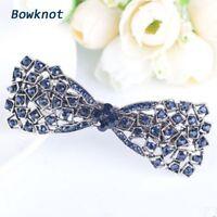 Women Girl Crystal Bow Hair Clip Hairpin Barrette Pearl Hair Accessories Fashion