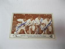 Joe DiMaggio Charlie Keller Tommy Henrich Lindell Autographed Postcard