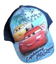 Disney Pixar Cars One Size Childs Baseball Cap Turquoise/Dark Blue