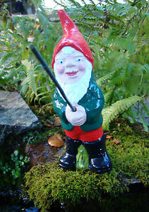 Traditional Fishing Garden Gnome ~ Alfie ~ Handmade by Pixieland (Concrete)