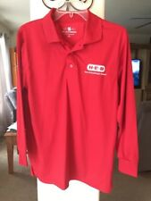 HEB Long Sleeve ShirtColor Red Size S M  Dri Express Moisture Wicking Technology