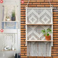 Macrame Knitted Rope Woven Tassel Wall Hanging Handmade Tapestry Shelf Decor Kit
