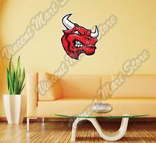 "Bull Head Red Riding Corrida Angry Wall Sticker Room Interior Decor 22""X22"""