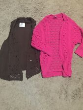 Girl's Justice Crochet Sweater Lot - Size 10 and 12
