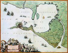 Reproduction carte ancienne - Cadix (Cádiz) 1662