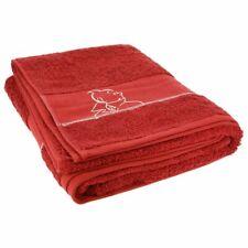 Tim und Struppi : Duschtuch, Badetuch, Handtuch in rot, 70 x 130 cm, neu