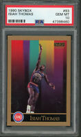 Isiah Thomas Detroit Pistons 1990 Skybox Basketball Card #93 Graded PSA 10 MINT