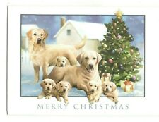 LABRADOR DOG FAMILY Guiding Eyes Christmas Greeting Card w/ Envelope New MG3