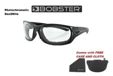 Bobster Sunglasses RUKUS Clear to Tented Day To Nite Padded Motorcycle Shades