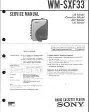 Sony Original Service Manual für WM-SXF 33