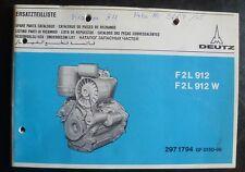 Deutz Motoren F2L 912 Ersatzteilkatalog