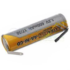 Batteria 1,2V AA Stilo 700mAh Ricaricabile NiCd 1,2 Volt con terminali a saldare
