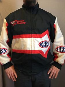 Vintage 90s H3 Sports Gear NHRA Winston Drag Racing Windbreaker Jacket L