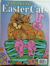 Coloring Easter Cats Adult Coloring Book 47 Prints to Frame FREE SHIPPING sb