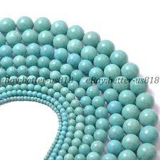 Howlite Turquoise Gemstone Round Beads 15'' 4MM 6MM 8MM 10MM 12MM 14MM 16MM 18MM