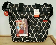 NEW Genuine Skip Hop Baby Duo Signature Diaper Bag with Changing Pad Onyx Tiles