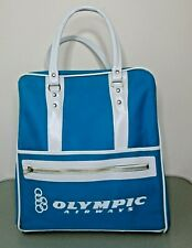Olympic Airways Bag Travel Carry on Purse VINTAGE Olympic airlines RARE BAG